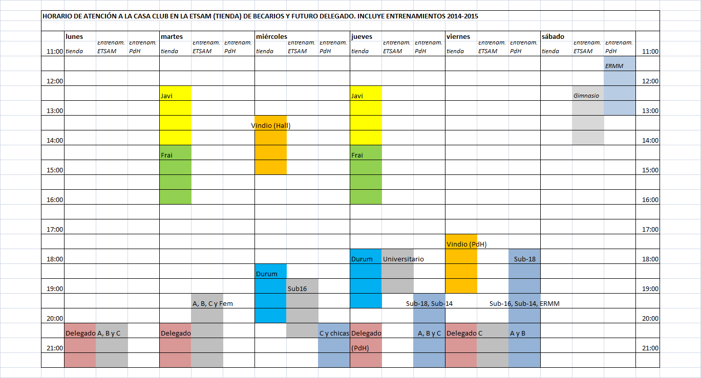 Campos de entrenamiento y apertura tienda 2014-2015