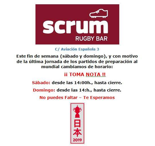 Scrum rugby bar